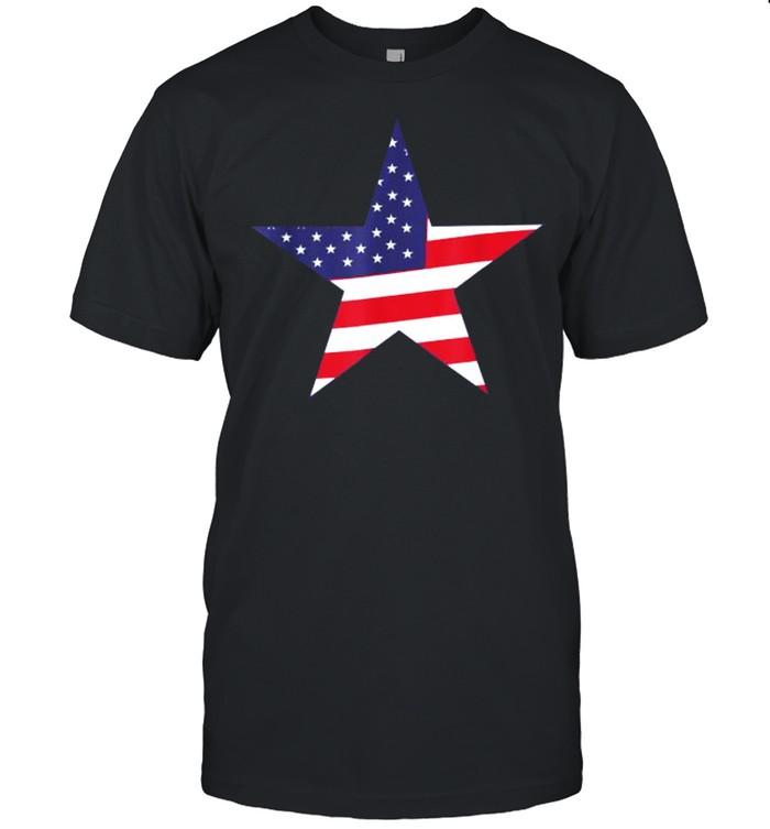 Star Shaped Flag T- Classic Men's T-shirt