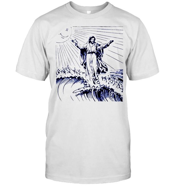 Jesus surfing shirt Classic Men's T-shirt