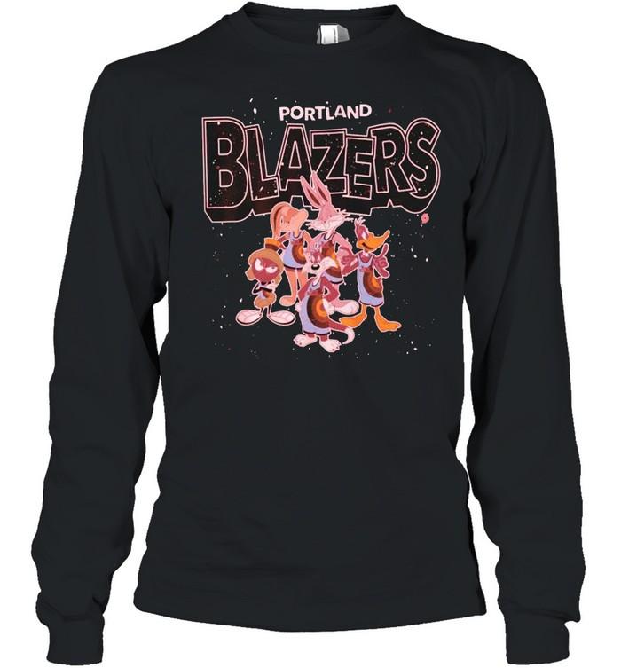 Portland Trail Blazers Space Jam 2 characters shirt Long Sleeved T-shirt