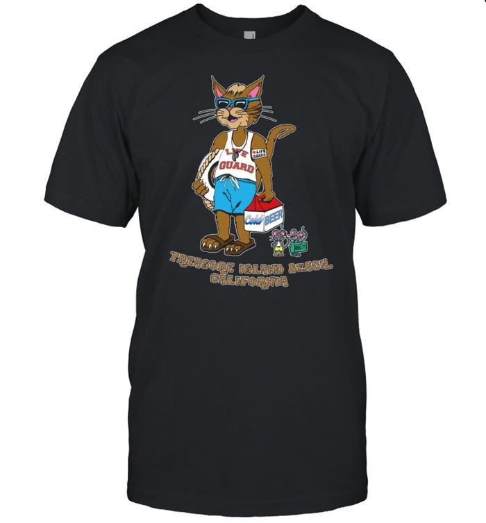 Treasure Island California Cool Cat At The Beach shirt Classic Men's T-shirt