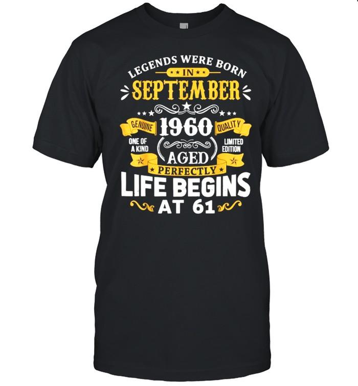 Legends Were Born In September 1960  61st Birthday  Classic Men's T-shirt