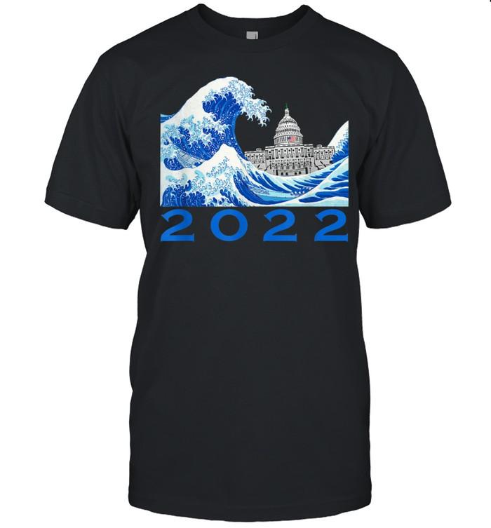 A Wave of Blue in 22 2022 US Midterm Election Vote Democrat shirt Classic Men's T-shirt