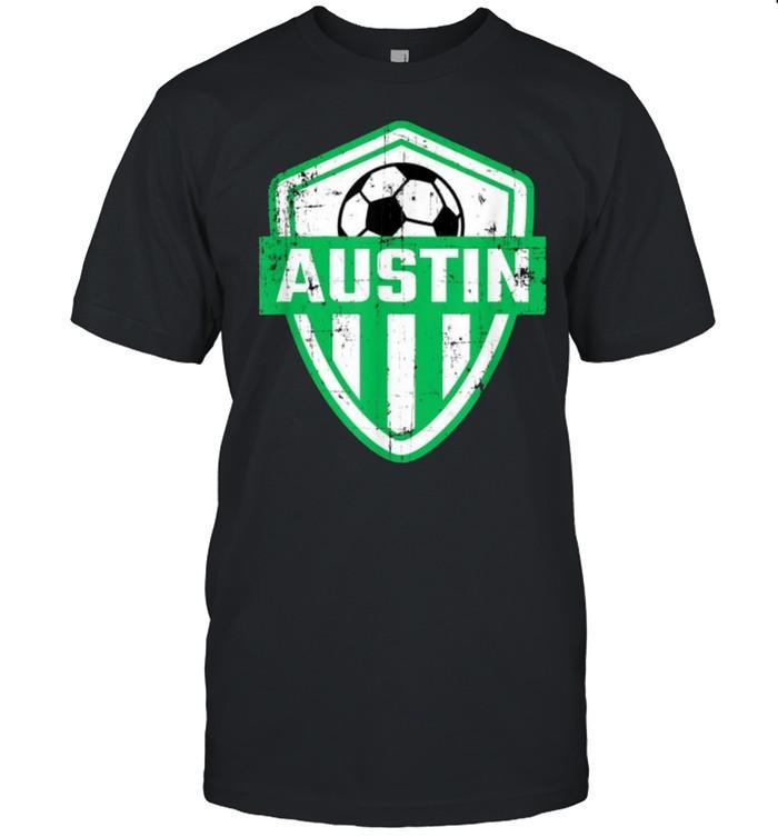 Austin Soccer Jersey Style Team Fan FC Texas Sports Verde T- Classic Men's T-shirt