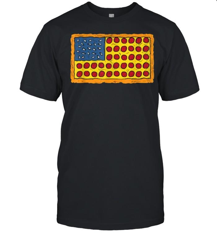 usa flag Pizza party T- Classic Men's T-shirt