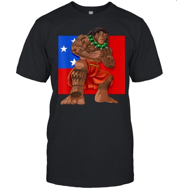 Samoan Pride Polynesian Haka Dance Samoa Flag T- Classic Men's T-shirt