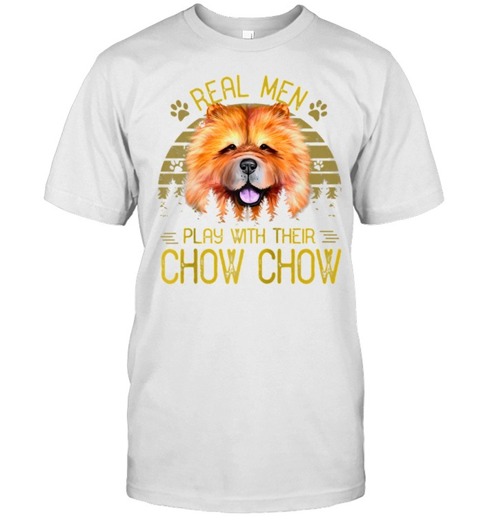Dogs 365 Real Play With Their Chow Chow Dog shirt Classic Men's T-shirt