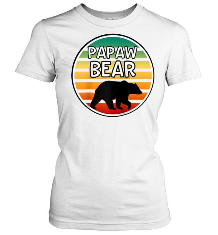 Mens Papaw Bear  Bear For Grandpa Grandparents shirt Classic Women's T-shirt