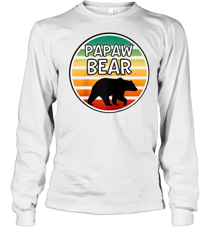 Mens Papaw Bear  Bear For Grandpa Grandparents shirt Long Sleeved T-shirt