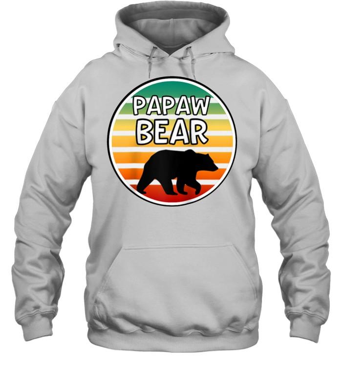 Mens Papaw Bear  Bear For Grandpa Grandparents shirt Unisex Hoodie