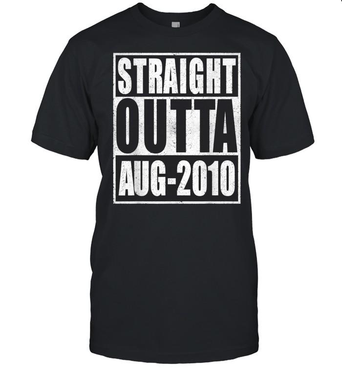 Straight Outta 2010 11th Bithday Retro 11 Years Old Birthday shirt Classic Men's T-shirt