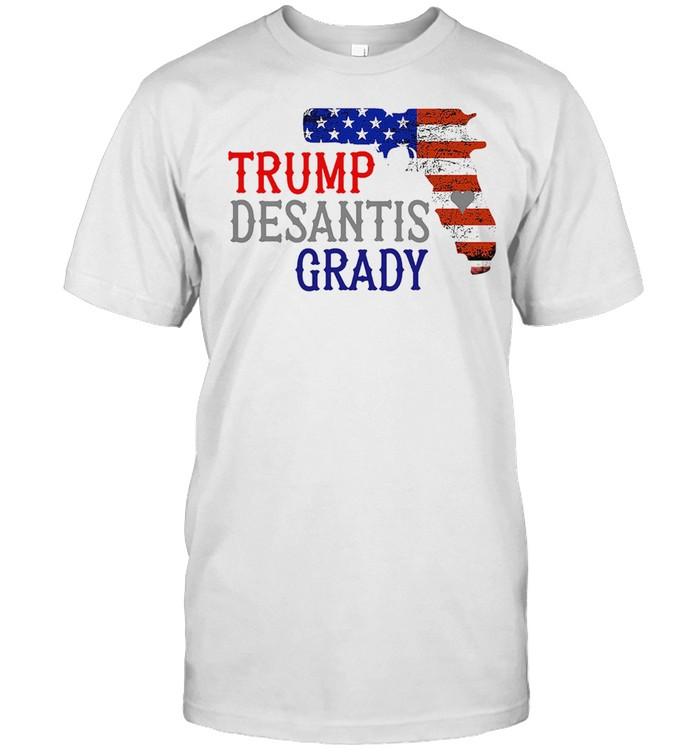 Gun American flag Trump Desantis Grady shirt Classic Men's T-shirt