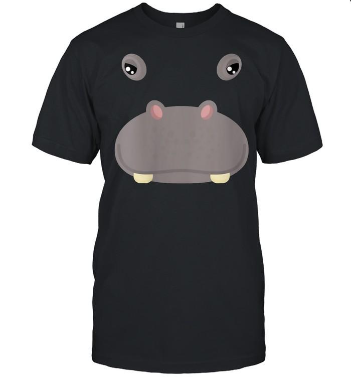 Animal Face Hippo Costume Halloween Adults shirt Classic Men's T-shirt