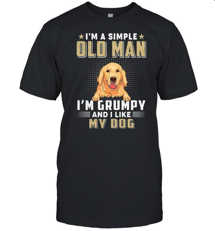 I'm a simple old man i'm grumpy and i like my dog shirt Classic Men's T-shirt