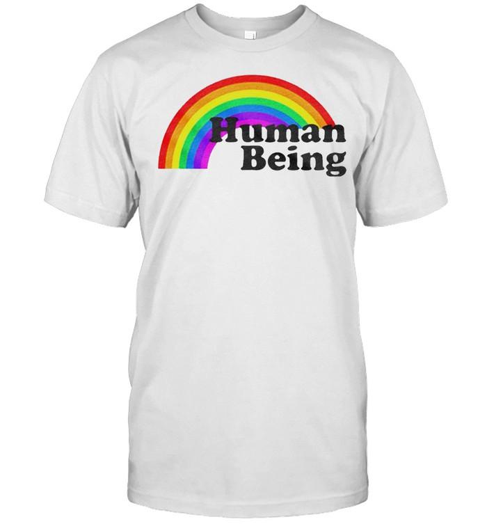 Human being rainbow ringer shirt Classic Men's T-shirt