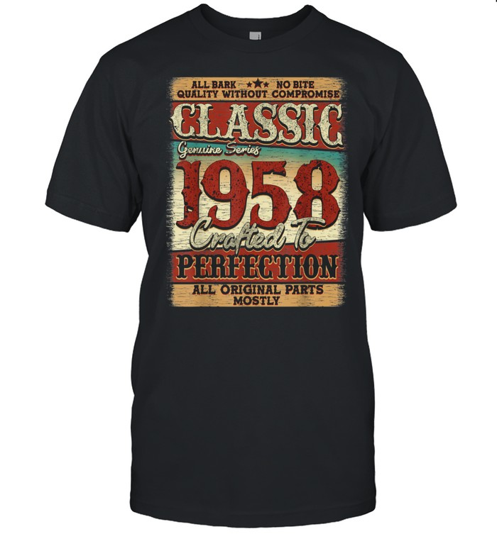 Vintage 1958 Limited Edition 63 years old 63rd Birthday shirt Classic Men's T-shirt