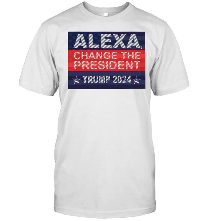Alexa change the president Trump 2024 shirt Classic Men's T-shirt