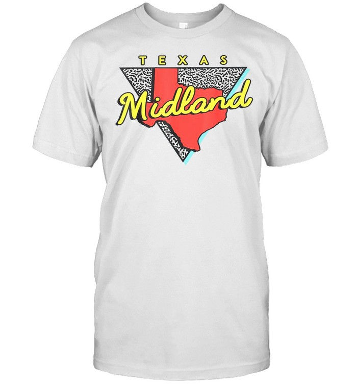 Midland Texas Retro Triangle TX City shirt Classic Men's T-shirt