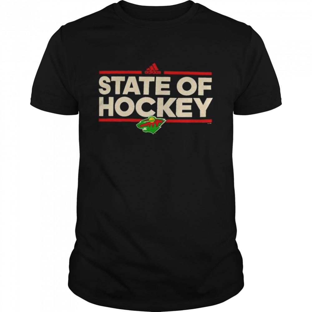 Minnesota Wild Adidas state of hockey shirt