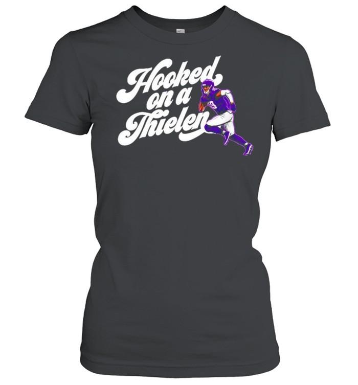 Adam Thielen Hooked On A Thielen Minnesota Vikings shirt Classic Women's T-shirt