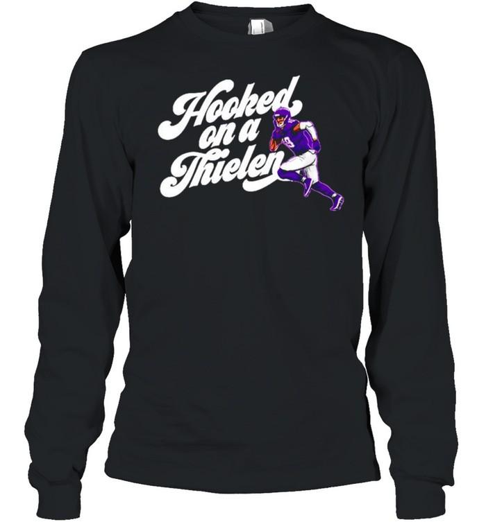 Adam Thielen Hooked On A Thielen Minnesota Vikings shirt Long Sleeved T-shirt