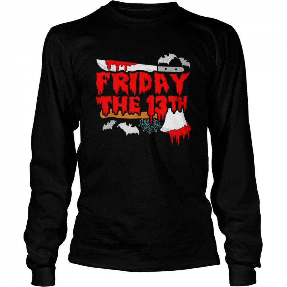 Friday the 13 Friday the 13th horror shirt Long Sleeved T-shirt