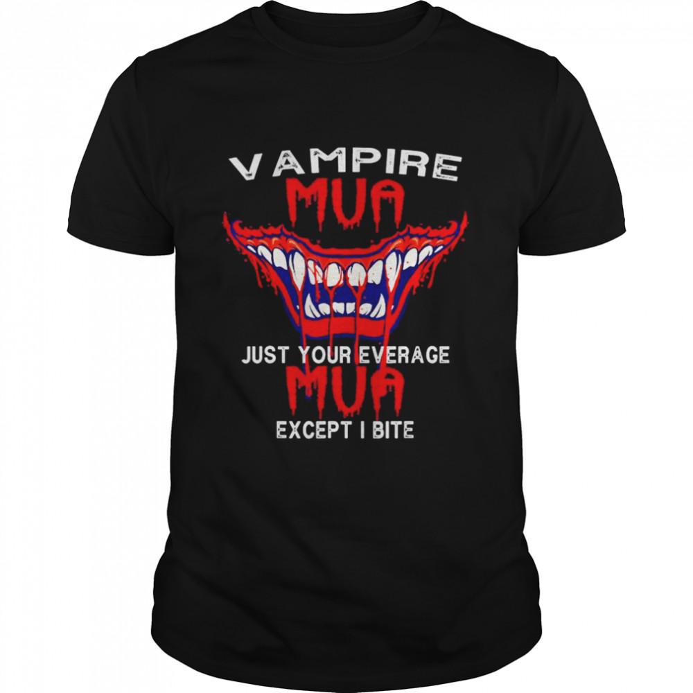 Halloween Vampire Fangs in October 31st shirt