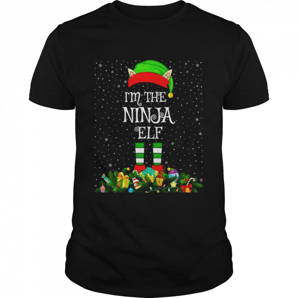 Matching Family Group I'm The Ninja Elf Christmas Shirt