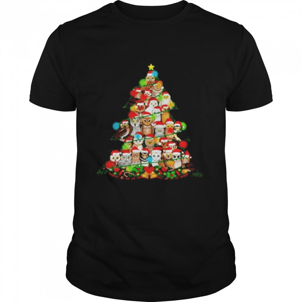 Owls make Christmas tree shirt