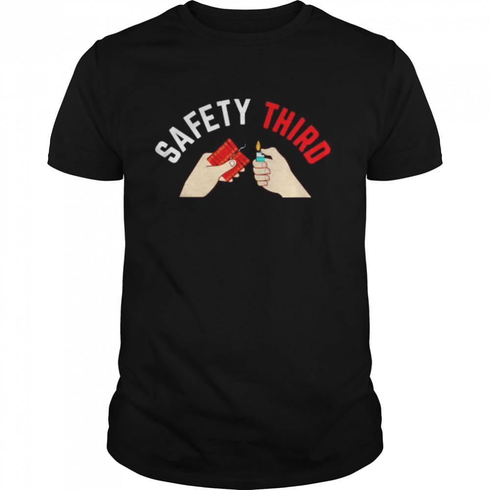 Patriotic fireworks safety third shirt