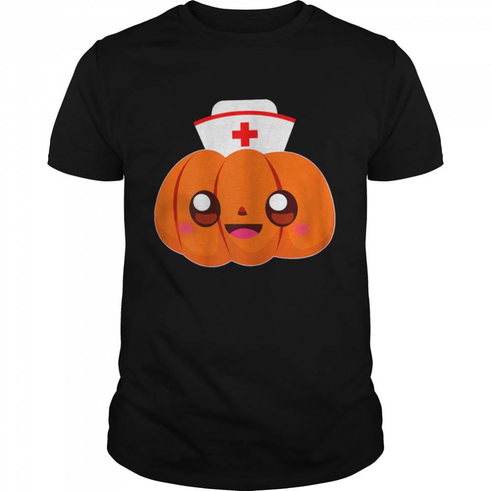 Pumpkin Nurse Costume RN CNA ICU shirt