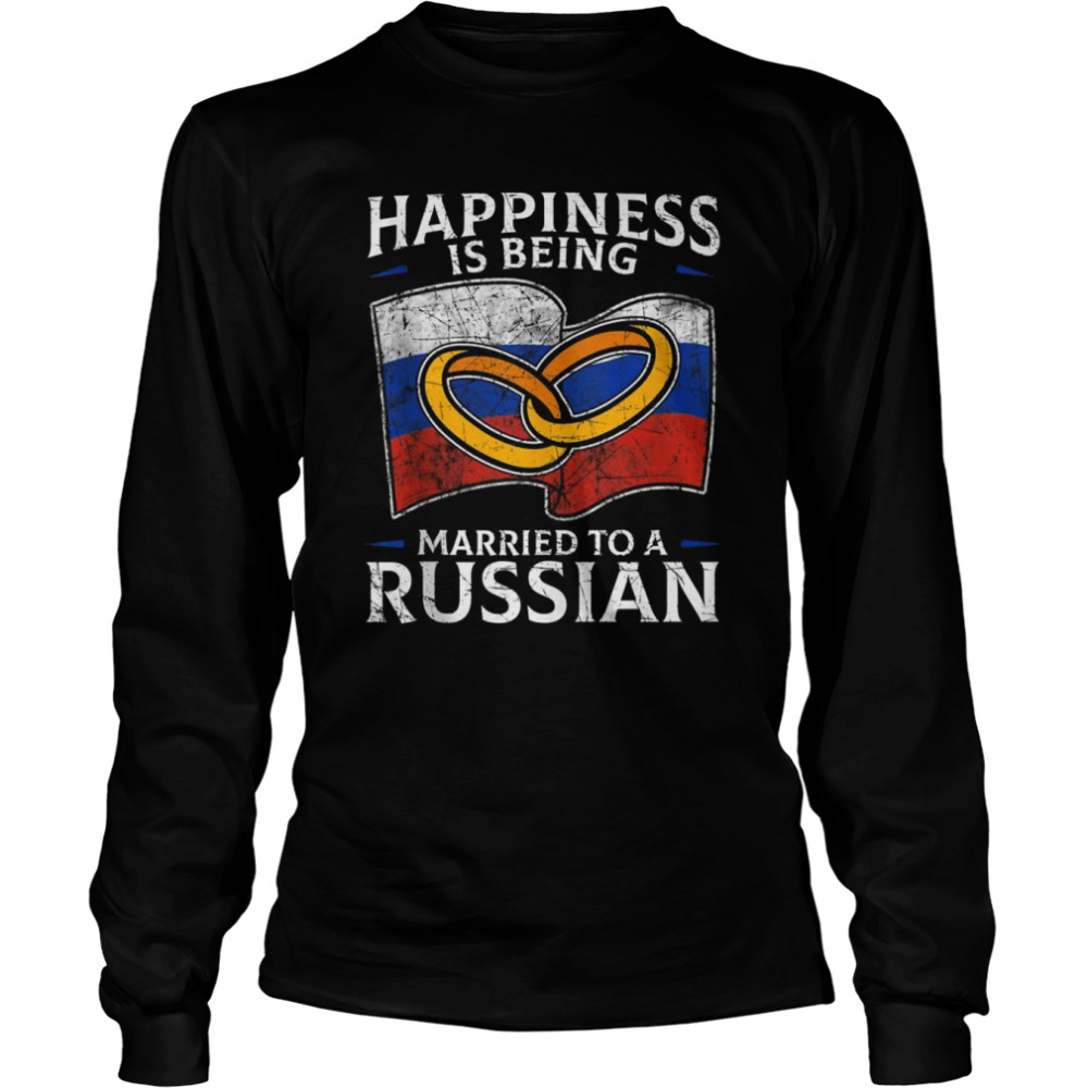 Russia Wedding Russian Federation Roots Married  Long Sleeved T-shirt
