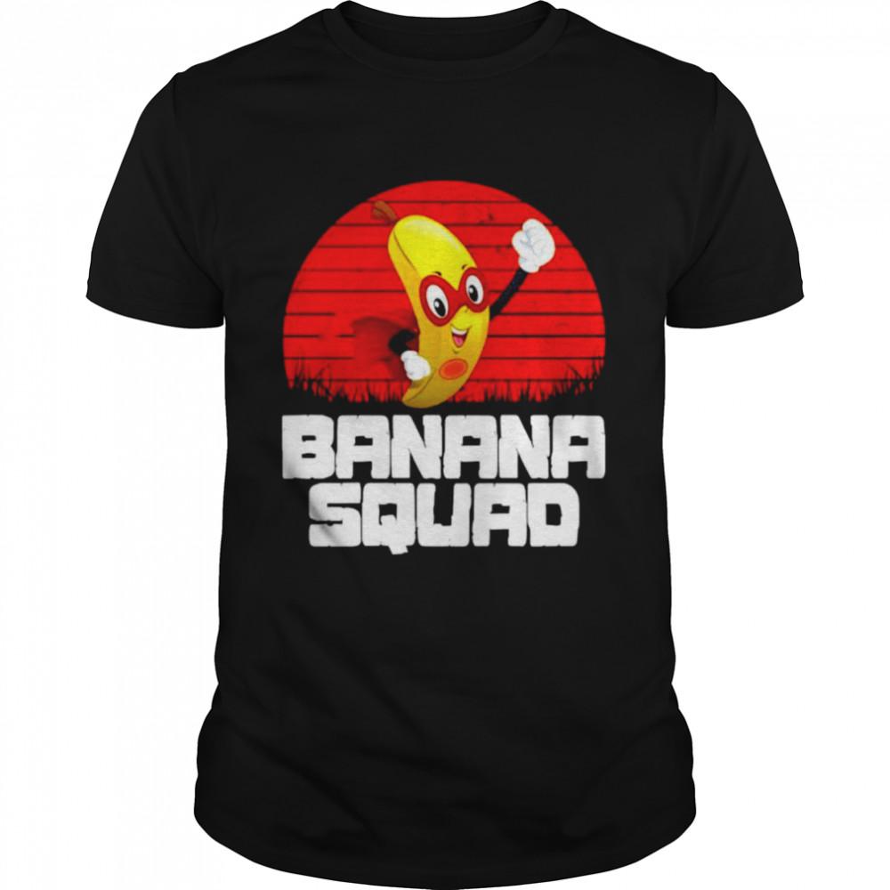 Superman banana squad vintage shirt
