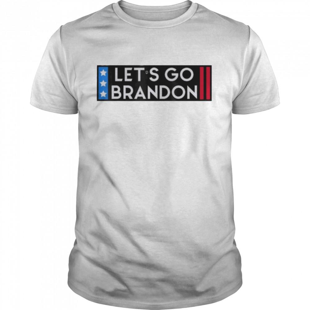 Let's Go Brandon Bumper US Flag Tee Shirt